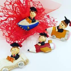 BOMBONIERE per LAUREA economiche tocco pergamena confetti rossi offerta