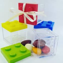 Costruzioni lego scatoline portaconfetti cresima multicolor