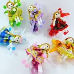 Bamboline scatoline portaconfetti cresima vari colori