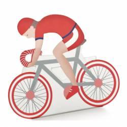 scatoline portaconfetti cresima ciclismo colore rosso