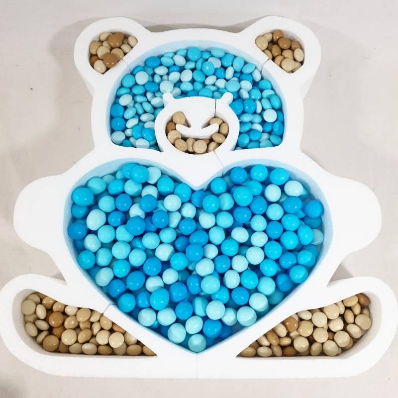Contenitore confettata orsetto in polistirolo