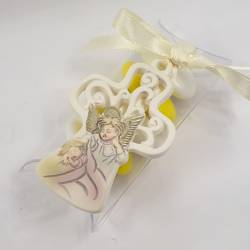 Portaconfetti scatoline Battesimo angelo ciondolo