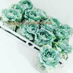 Bomboniere Matrimonio Verde Tiffany.Sacchetti Matrimonio Fiore Peonia Verde Acqua Struttura A Piu