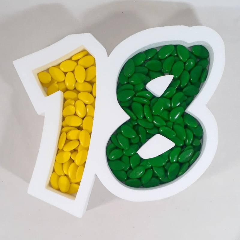 Contenitore per confettata diciottesimo compleanno