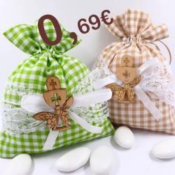 Sacchetti confetti Comunione quadratini con calice