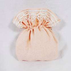 sacchetti portaconfetti Comunione si possono scegliere in vari colori: Bianco  Rosa cipria  Tortora  Corallo