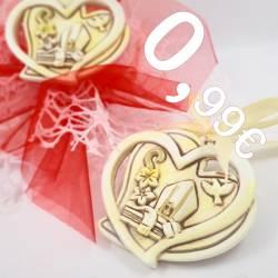 Bomboniere x Cresima ciondolo cuore stilizzato