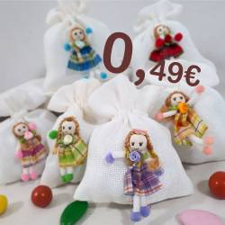 Sacchetti Comunione a 0,50 centesimi bamboline di pezza