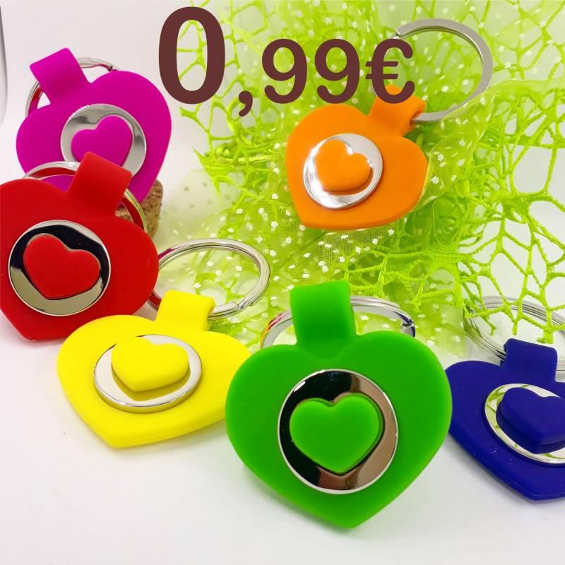 Portachiavi 18 anni a 0,99 centesimi cuore in vari colori