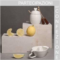 Vasetto per milele Bomboniere Claraluna ceramica bianca