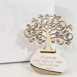 Profumatore albero della vita in legno con frasi famose