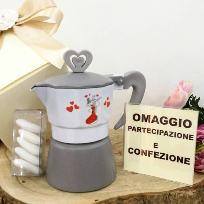 Bomboniere Originali Matrimonio.Moka Sposini Cuori Rossi Originali Bomboniere Utili Matrimonio