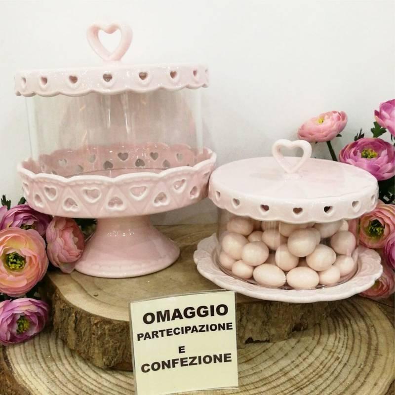Bomboniere matrimonio utili alzata per dolci partecipazione e confezione omaggio