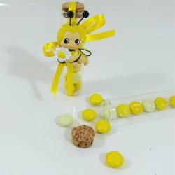 Scatoline portaconfetti Comunione ape Maia con provetta