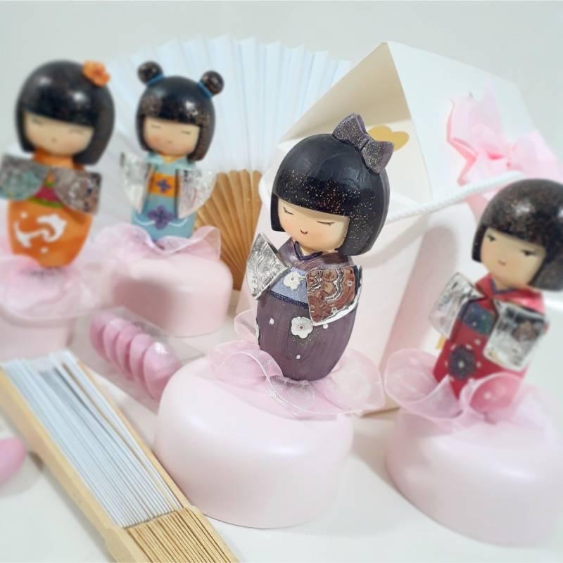 Bomboniere carillon giapponesine bambole confezionate