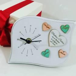 Idea regalo per madrina e padrino di Battesimo orologio in legno