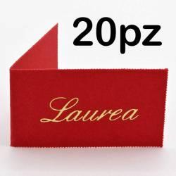 20 Bigliettini Laurea personalizzati con frase STAMPA INCLUSA