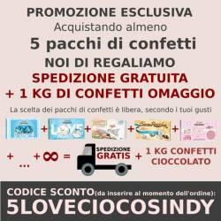 Confetti Maxtris Two Milk Rossi Classici al Cioccolato - omaggio