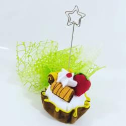 Portamessaggio memoclip cupcake artigianale per 18 anni