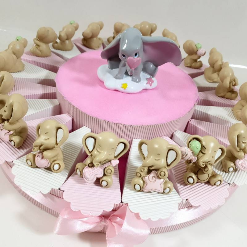 Torta bomboniere Dumbo Disney bimba statuette dolcissime