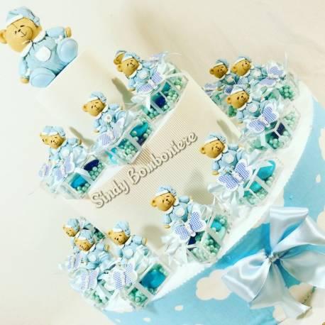 Idee bomboniere Battesimo per bambino color azzurro