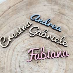 Segnaposto nomi personalizzati in legno
