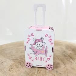 Scatoline portaconfetti nascita bimba viaggio orsetto aeroplanino