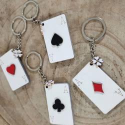 Bomboniere portachiavi tema poker gioco
