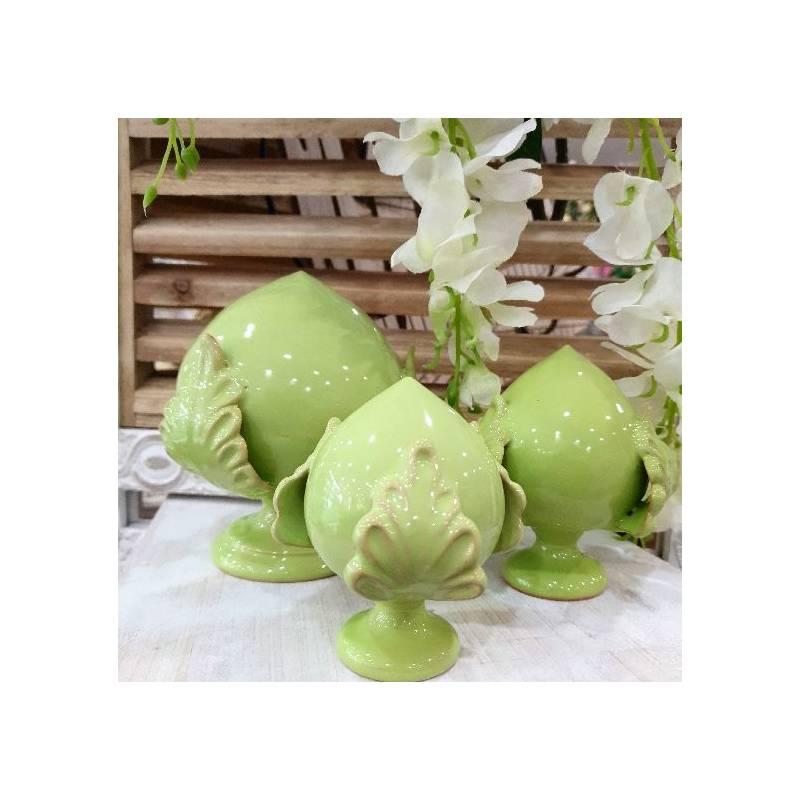 Pumo pugliese verde chiaro in ceramica