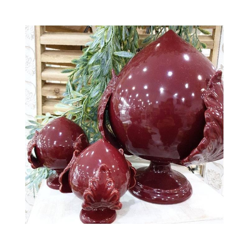 Pumo di Puglia in ceramica bordeaux