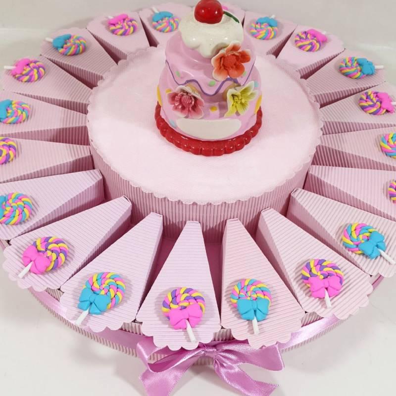 Torta bomboniera compleanno lecca lecca spedizione inclusa