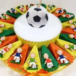Bomboniere calciatore calamita torta portaconfetti confetti e bigliettini inclusi