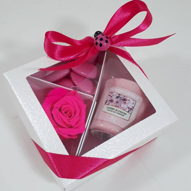 Bomboniera Yankee Candle rosa eterna fucsia