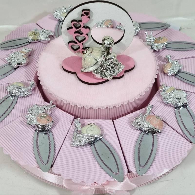 Torta bomboniere Animaletti fermalibro bimba