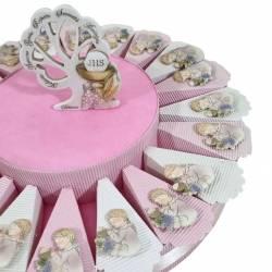 Torta Comunione offerta magnete bambina in preghiera