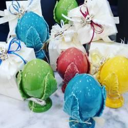 Pumo bomboniera ceramica Pugliese colori brillanti