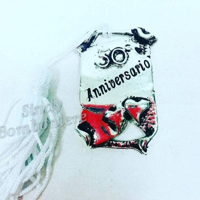 Fai da te bomboniera pergamena argentata 50 anni for Regali per venticinquesimo