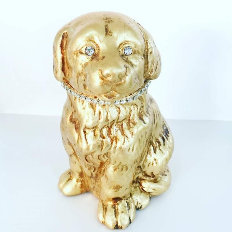 Cagnolino con collare in swarovski ceramica valle d 39 oro for Casa complementi d arredo