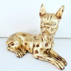 CANE occhi e collare in Swarovski Ceramica Valle d'Oro Parchi IDEE REGALO CASA confezione Complementi d'Arredo MADE IN ITALY