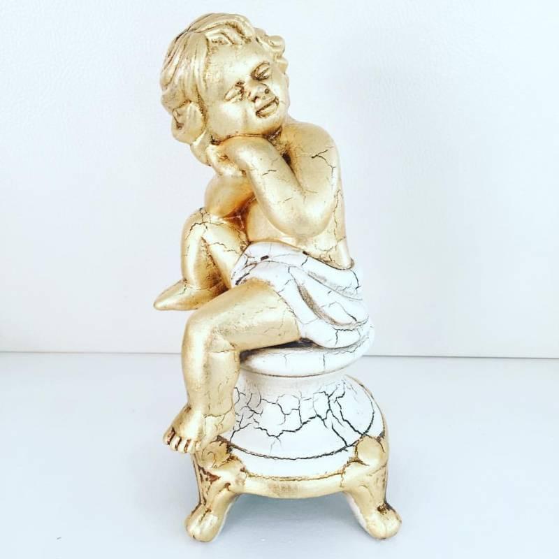 Putti angelo oro ceramica valle d 39 oro parchi idee regalo for Casa complementi d arredo