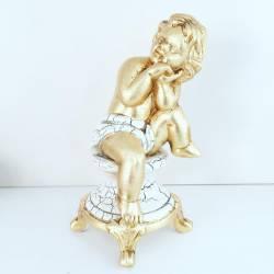 Putto angelo Oro Ceramica Valle d'Oro Parchi IDEE REGALO CASA confezione Complementi d'Arredo MADE IN ITALY