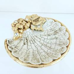 Conchiglia Oro swarovski Ceramica Valle d'Oro Parchi IDEE REGALO CASA confezione Complementi d'Arredo MADE IN ITALY