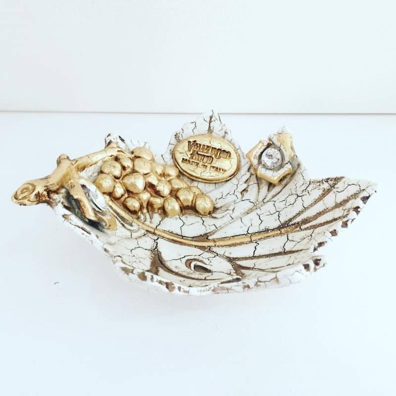 Foglia oro swarovski uva ceramica valle d 39 oro parchi idee for Casa complementi d arredo