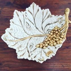 Foglia Oro centrotavola swarovski Ceramica Valle d'Oro Parchi IDEE REGALO CASA confezione Complementi d'Arredo MADE IN ITALY