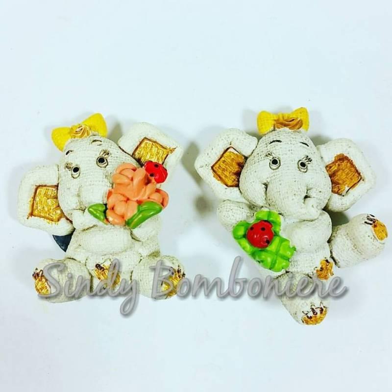 Bomboniere Baby Shower Fai Da Te ~ Fai da te bomboniere magnete elefante fiori cocinella per