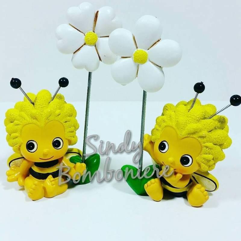 Conosciuto BOMBONIERA FAI DA TE CLIP con fiore margherita APE MAIA per  FB17