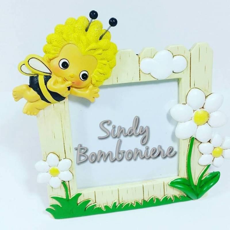 Famoso BOMBONIERA FAI DA TE PORTAFOTO GRANDE con fiore APE MAIA per  SX14