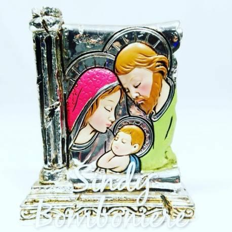BOMBONIERA BIMBO BIMBA PORTAFOTO ritratto sacra famiglia sacramento BATTESIMO fai da te no confetti