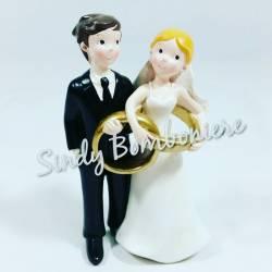 FAI DA TE BOMBONIERE sposini 4 MODELLI matrimonio promessa con sacchetto carta regalo cuore fiori