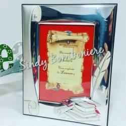 Cornice per foto laminato in argento con scatola regalo idee regalo laurea